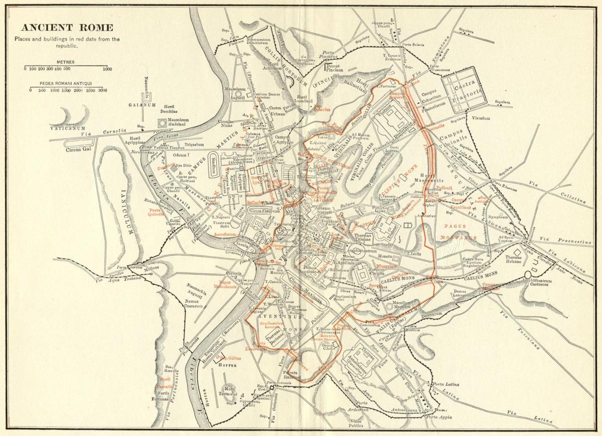 Drevni Rim Ulicna Mapa Mapa Drevnog Rima Ulici Lazlo Italija